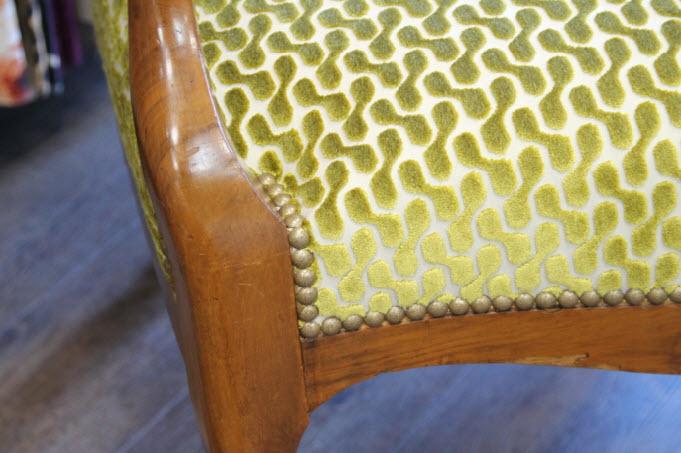 Assise du fauteuil rénové