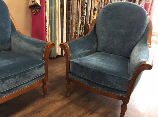 renovation fauteuil en velours