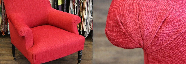 restauration d'un fauteuil anglais