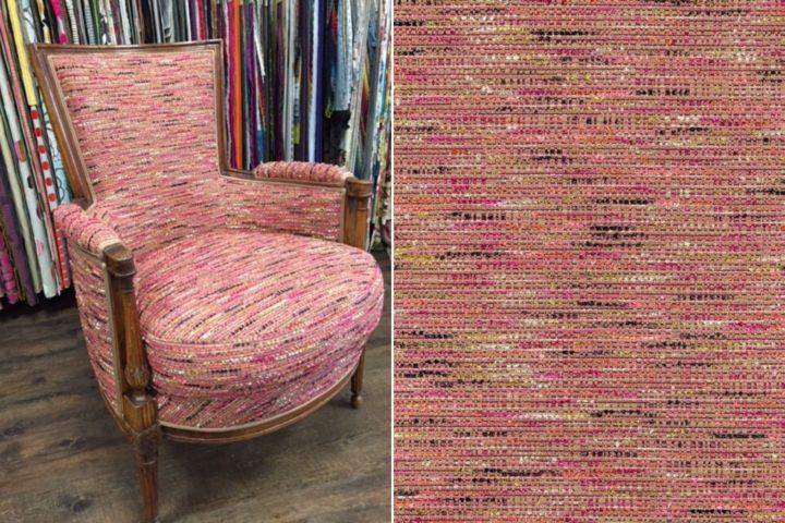 restauration fauteuil voltaire tissu cambon